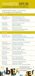 Europäisches Festival der Reiseliteratur NEBEN DER SPUR
