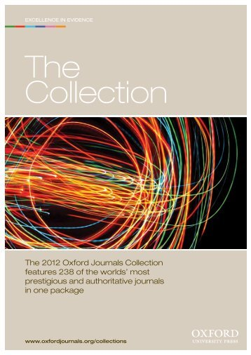 The 2012 Oxford Journals Collection features 238 of the worlds ...