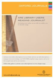 are library users reading journals? OXFORD JOURNALS