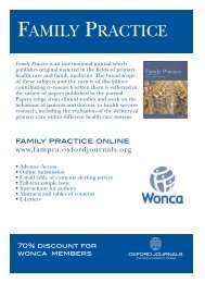 FAMILY PRACTICE - Oxford Journals