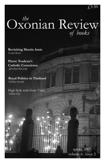 the of books - The Oxonian Review