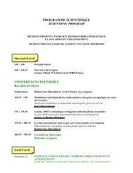 PROGRAMME SCIENTIFIQUE SCIENTIFIC PROGRAM ...