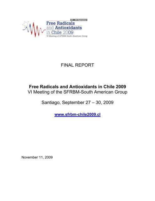 FINAL REPORT Free Radicals and Antioxidants in Chile 2009 VI ...