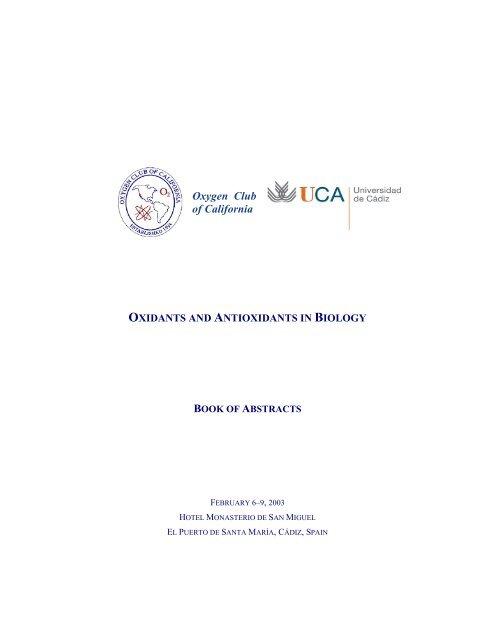 oxidants and antioxidants in biology - Oxygen Club of California