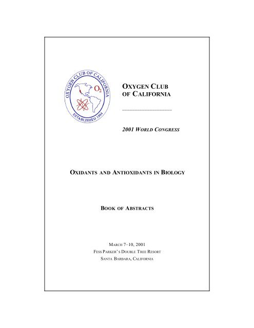 2001 Abstracts in PDF - Oxygen Club of California