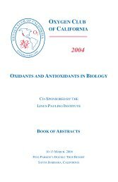 Conference Book of Abstracts - Oxygen Club of California