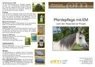 EM-Anwendungen in der Pferdehaltung - EM-Chiemgau