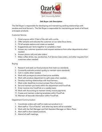 Job Description Position Chef De Partie Responsible To Sous