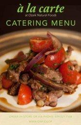 Catering Menu here - Ozark Natural Foods