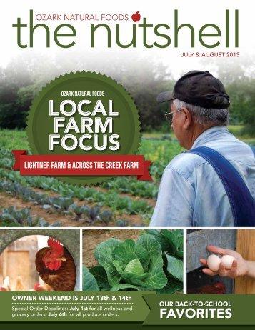 July & August 2013 Newsletter - Ozark Natural Foods