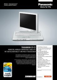 toughbook cf-c1 robuster, mobiler convertible-tablet-pc ... - FFcompany