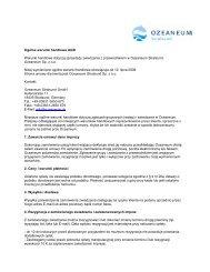 Ogólne warunki handlowe AGB - Ozeaneum