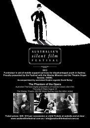 The Phantom of the Opera - Australia's Silent Film Festival