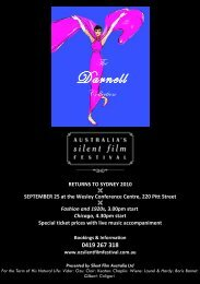 returns to sydney 2010 - Australia's Silent Film Festival