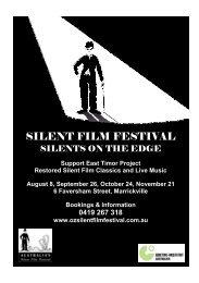 0419 267 318 - Australia's Silent Film Festival