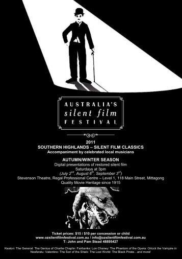 2011 southern highlands - Australia's Silent Film Festival
