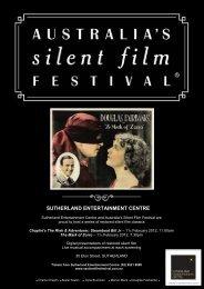 sutherland entertainment centre - Australia's Silent Film Festival