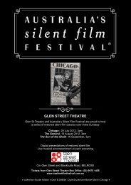 GLEN STREET THEATRE - Australia's Silent Film Festival
