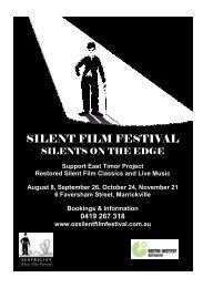 Overview - Australia's Silent Film Festival