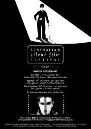 SYDNEY SCREENINGS - Australia's Silent Film Festival