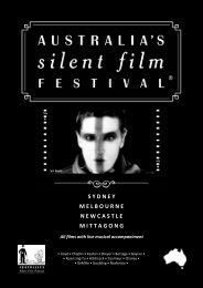 Films With Live Musical Accompaniment - Australia's Silent Film ...