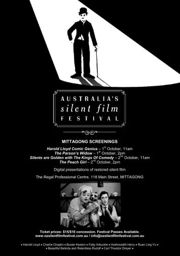 Movie Details - Australia's Silent Film Festival