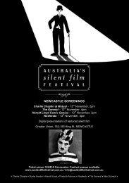 NEWCASTLE SCREENINGS - Australia's Silent Film Festival