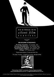 Movie Details - Australia's Silent Film Festival