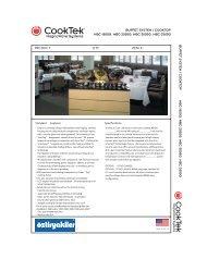 buffet system / cooktop mbc‐1800g, mbc‐2500g, mbc‐3000g, mbc ...