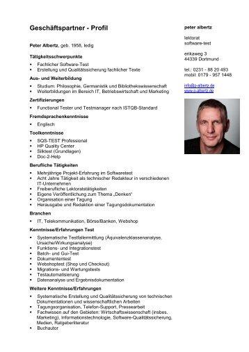 Geschäftspartner - Profil - Peter Albertz