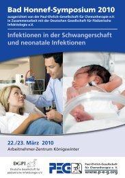 Bad Honnef-Symposium 2010 - Paul Ehrlich Gesellschaft