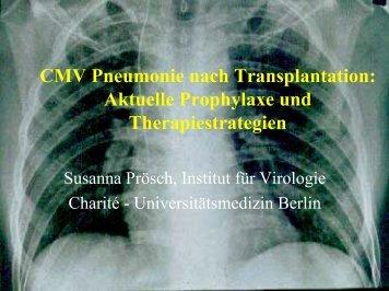 CMV Pneumonie nach Transplantation: Aktuelle Prophylaxe und ...