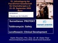 Ketolide Telithromycin - Paul Ehrlich Gesellschaft