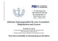 Klinische Zulassungsstudien für neue Arzneimittel - Paul Ehrlich ...