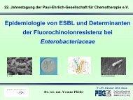 Epidemiologie von ESBL und Determinanten - Paul Ehrlich ...