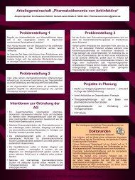 Pharmakoökonomie von Antiinfektiva - Paul Ehrlich Gesellschaft