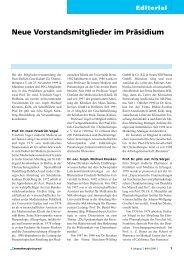 Editorial - Paul Ehrlich Gesellschaft