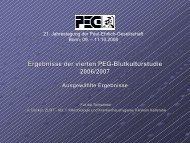 Ergebnisse der vierten PEG-Blutkulturstudie 2006/2007 ...