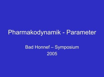 Pharmakodynamik - Parameter