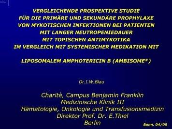 Charitè, Campus Benjamin Franklin Medizinische Klinik III ...