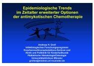 Epidemiologische Trends im Zeitalter erweiterter Optionen der ...