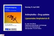 Antimykotika – Drug updates Liposomales Amphotericin B