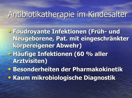 Antibiotikatherapie im Kindesalter