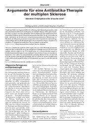 Argumente für eine Antibiotika-Therapie der multiplen Sklerose