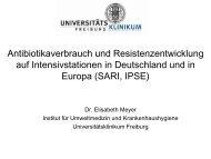 Antibiotikaverbrauch und Resistenzentwicklung auf ...