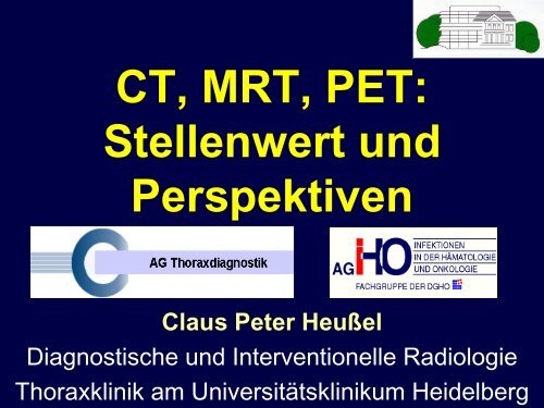 Die Lungentuberkulose und ihre Differentialdiagnose CT und ...