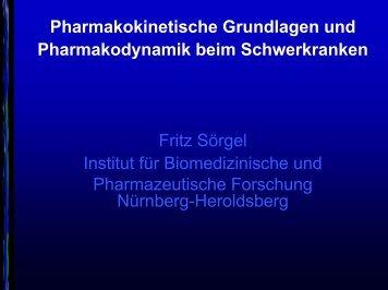 Pharmakokinetische Grundlagen und Pharmakodynamik beim ...