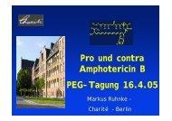 Pro und contra Amphotericin B PEG-Tagung 16.4.05
