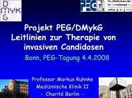 Echinocandine und andere neue Substanzen in der klinischen ...