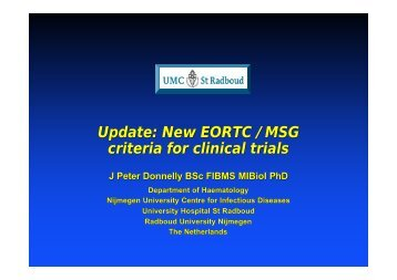 EORTC/MSG definitions